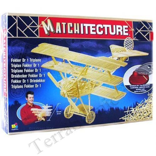 Matchitecture Matchstick Model Kit Fokker Dr1